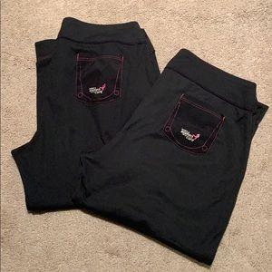 Pants - (2) New Balance Komen WorkOut Capris Medium